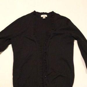 Black button down cardigan